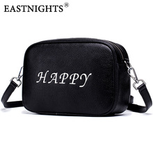 EASTNIGHTS genuine leather messenger bags women new fashion double zipper handbag small female cow day clutches