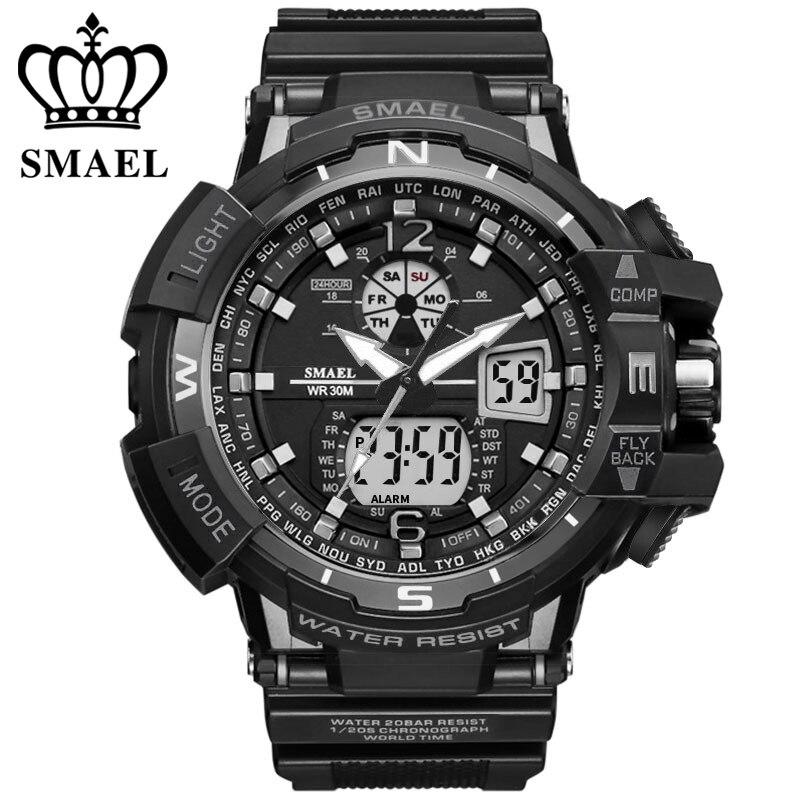 SMAEL Marca Reloj Deportivo Hombres Nueva Moda Impermeable Reloj - Relojes para hombres - foto 2