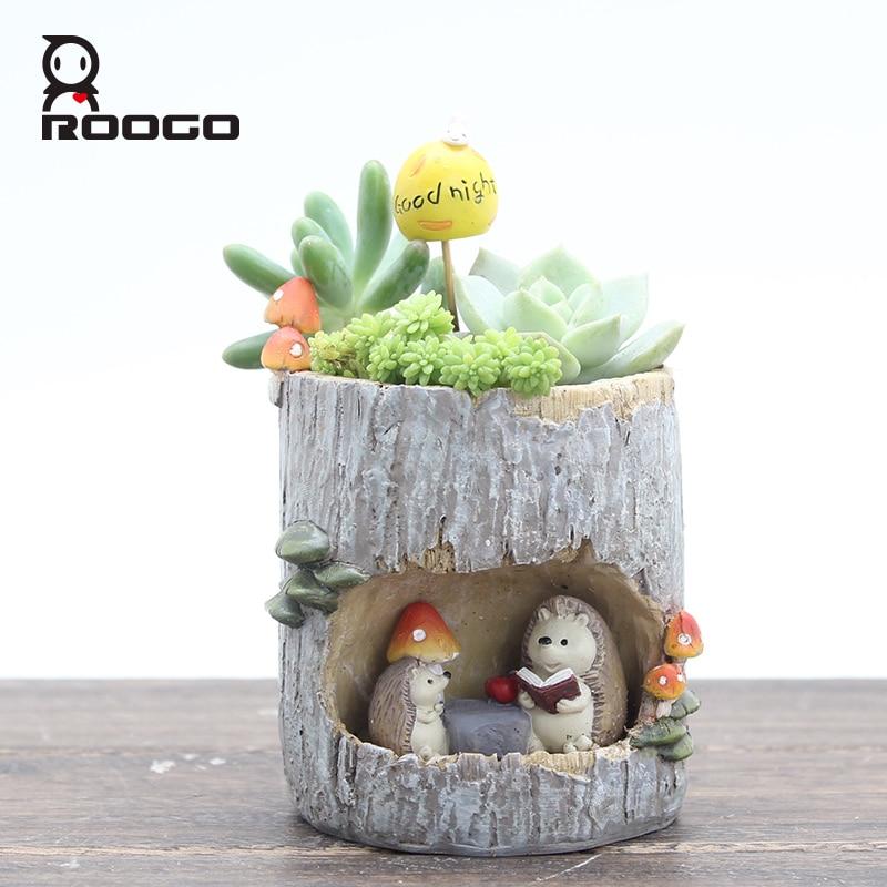 Roogo 4 Деревне отвір Плантатор Горщики - Садові товари