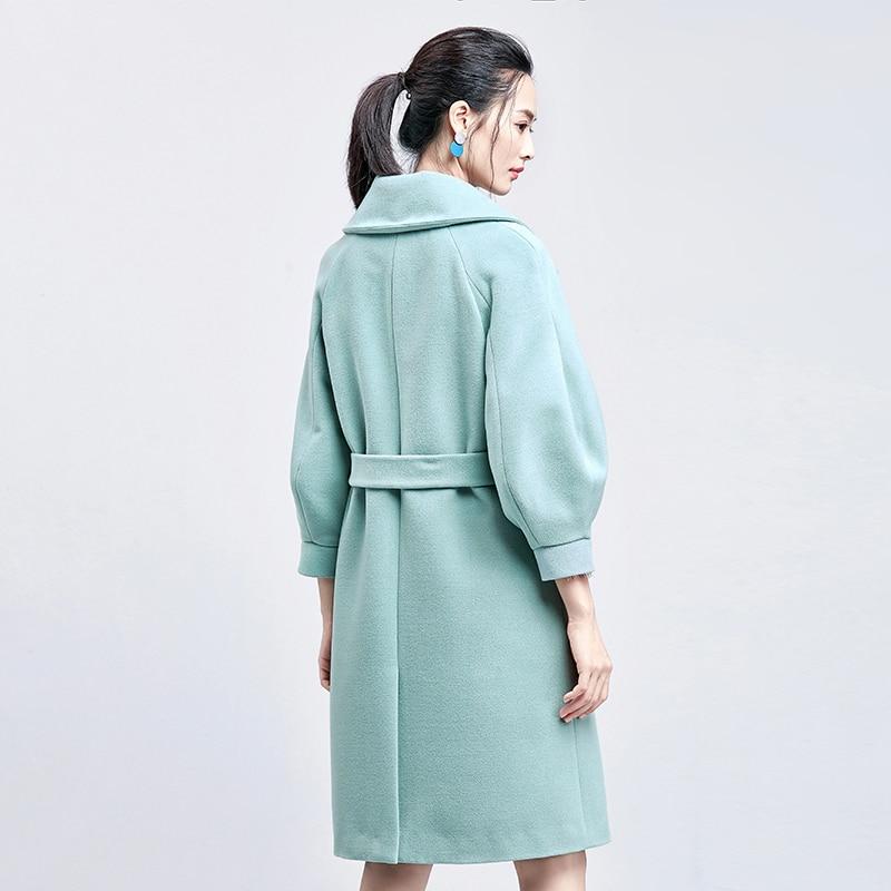 Long grey Femmes Vert Veste Coréen Kj195 pink 2018 Élégant Femelle maroon Grey B Ayunsue Outwear Laine Abrigos Mujer De Vêtements Invierno Manteau A qwSxHnPI
