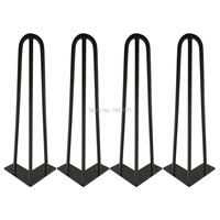 Free Shipping 16 Hairpin Legs Matte Black 3 8 Steel Rod Set Of 4 Teapoy Tabel