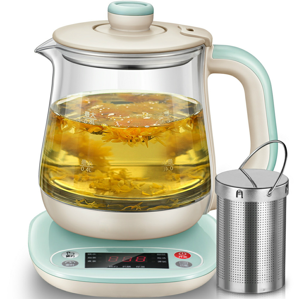 health raising pot fully automatic thickening glass electric  kettle office small flower tea set miniature Overheat Protection концентрат health