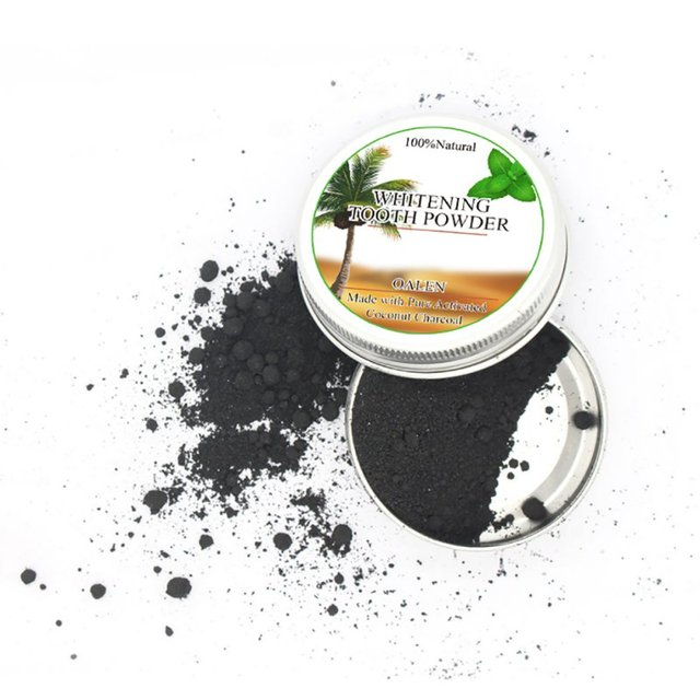 Natural Activated Coconut Charcoal Teeth Whitening Powder Bamboo Dental Cream Oral Care Hot Selling