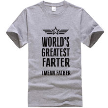 34ec0bfc 2018 New Summer Mens T Shirts Worlds Greatest Farter Funny Fathers Day  Tshirt New Dad Gift