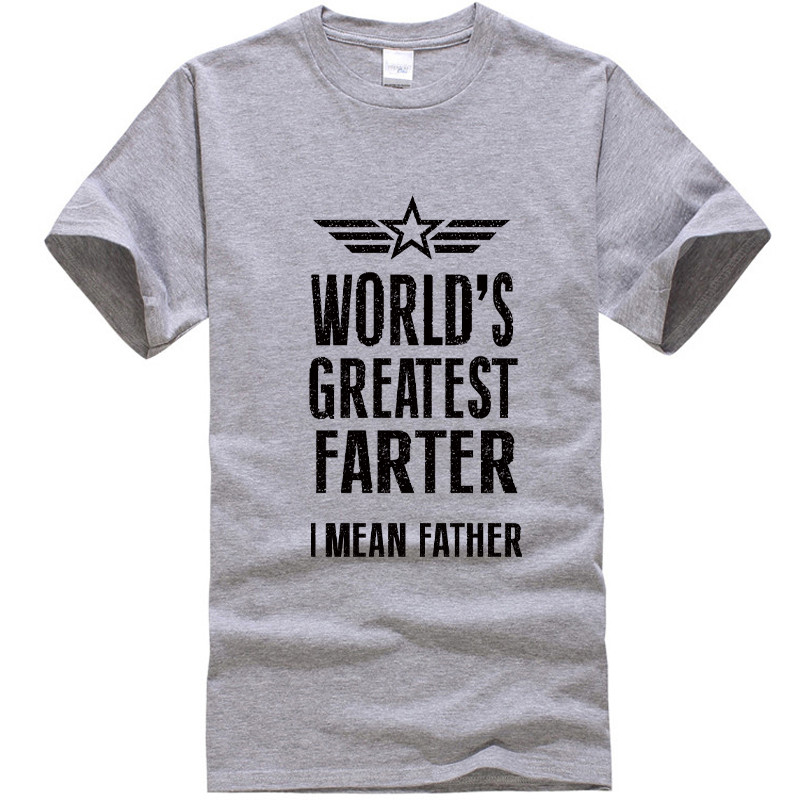 2018 New Summer Mens   T     Shirts   Worlds Greatest Farter Funny Fathers Day Tshirt New Dad Gift Tee Humor Tee   Shirt   Summer Tops