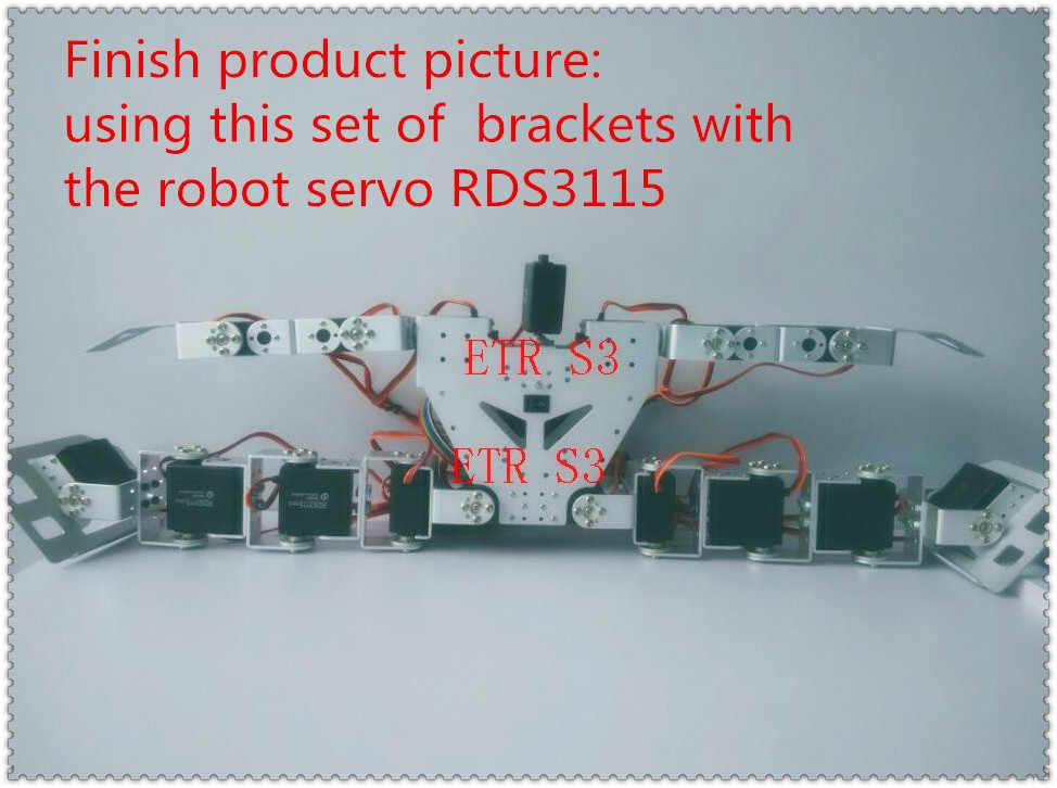 17 гуманоид dof DIY робот сервопривод шасси образовательный гуманоид Робот Запчасти RC arduino робот + сборка Инструменты Бесплатная доставка