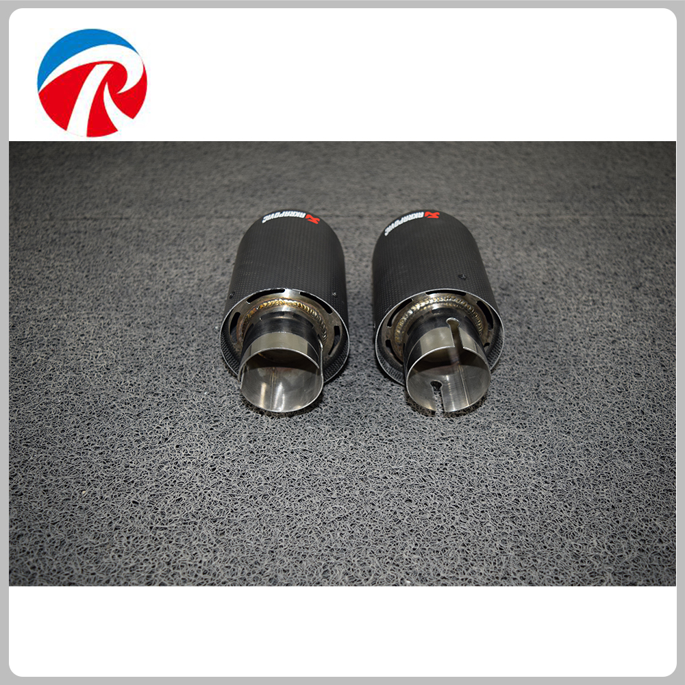 Akrapovic exhaust car carbon Exhaust Tip car-styling exhaust pipe muffler tip carbon fiber exhaust tip
