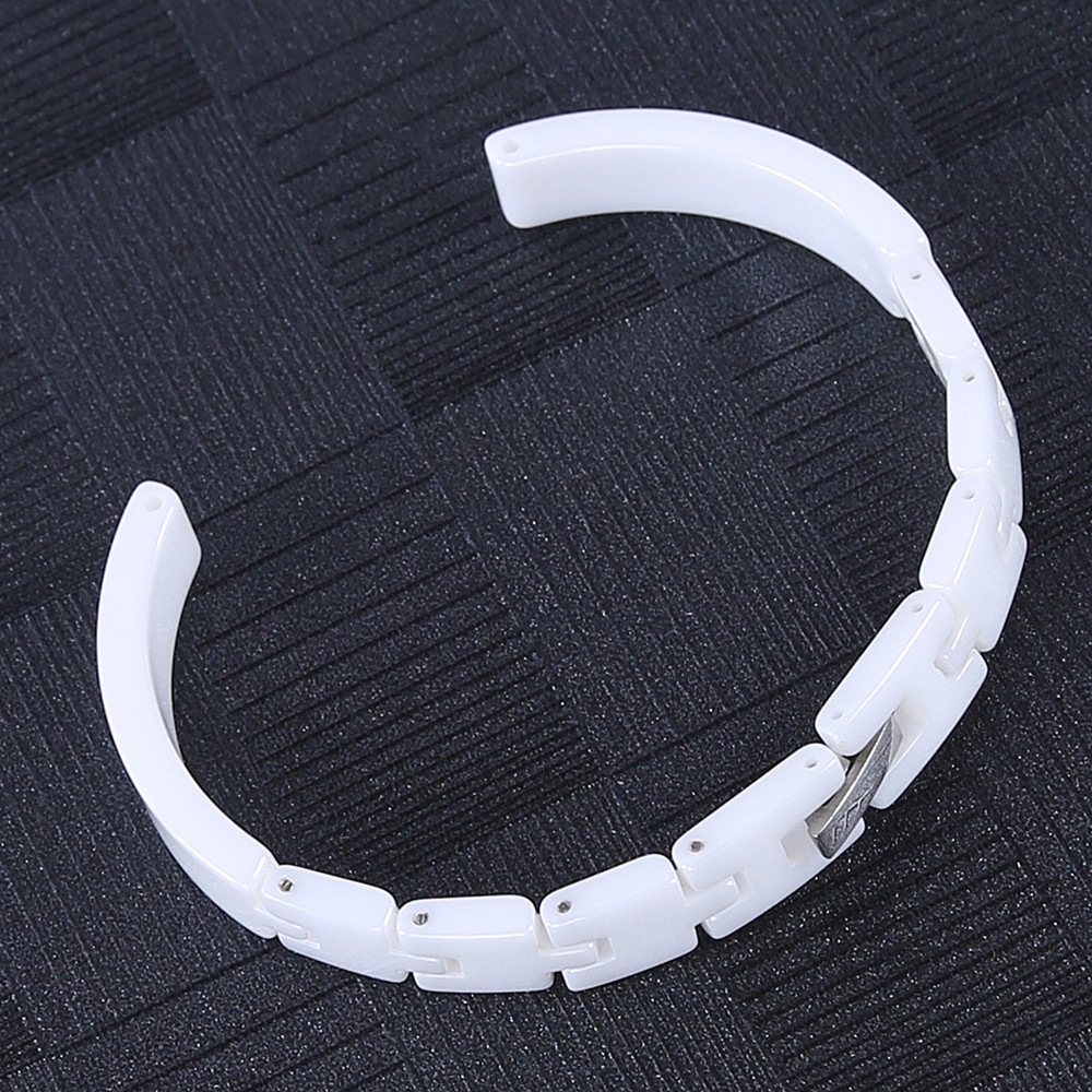 8MM Pearl Ceramics Ladies Women Delicate Radiation Protection Watch Strap Band Watchband Bracelet Notch 4MM