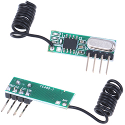 2.0V - 5.5V 433MHZ 433Mhz RF Wireless Transmitter Module and Receiver Kit Wireless For Arduino Raspberry Pi /ARM/MCU WL DIY Kit