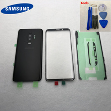 For Samsung Galaxy S9 G950 S9 Plus G965 S9+ Glass Battery Back Cover Door Housing + LCD Front Glass Repair Replacement Parts
