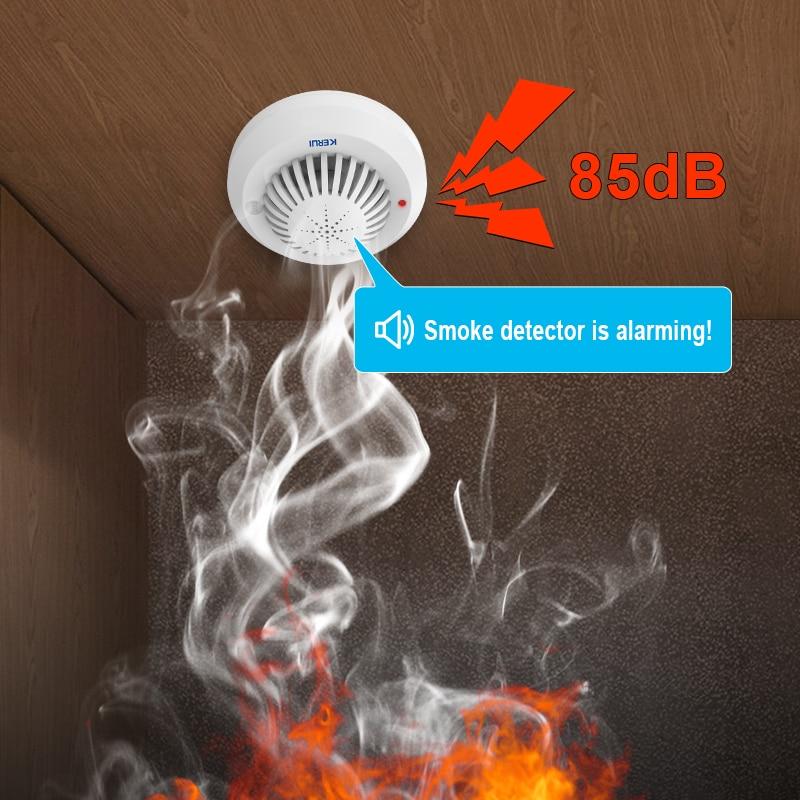 KERUI SD03 Høy følsomhet Stemme ber om røyk branndetektor / sensor - Sikkerhet og beskyttelse - Bilde 2