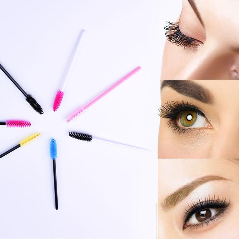 50PcsPack Disposable Eyebrow Brush Eyelash Brush Makeup Brushes Natural Eyelash Brush Makeup Eyelashes Comb Make Up Tools