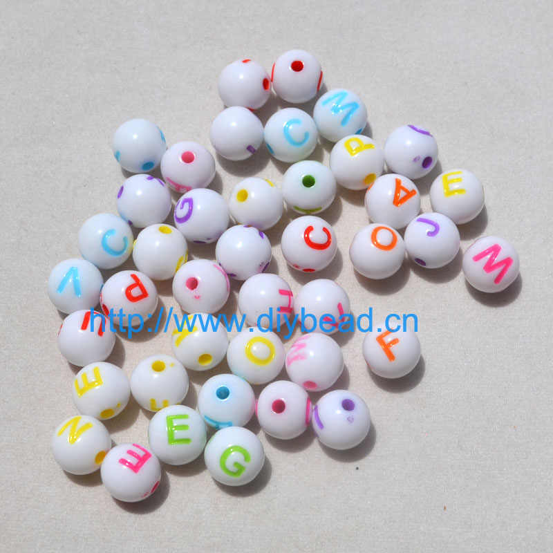 Flat Heart Shape 7mm Mixed Colorful Acrylic Letter Beads For DIY Alphabet Fashion Jewelry Bracelets Hand Making 100pcs 16 Styles
