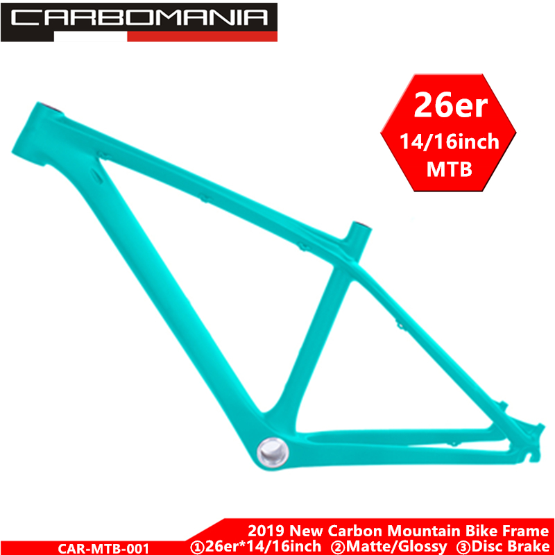 Carbon Mtb Frame 26er Bicycle Frame Kids Mountain Bike Framework 14inch Disc Brake Mountain Bike 2019 Many Colors Cycling Frame