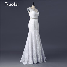 Ruolai Real Photo Custom Made Mermaid Wedding Dresses