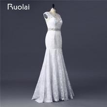 Ruolai Real Photo Custom Made Mermaid Wedding Dresses