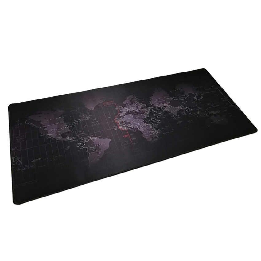 XL carte du monde tapis de souris de jeu 30x80cm 40x90cm bord de verrouillage clavier souris tapis de bureau grand tapis de souris de jeu Gamer pour CSGO LOL Dota2