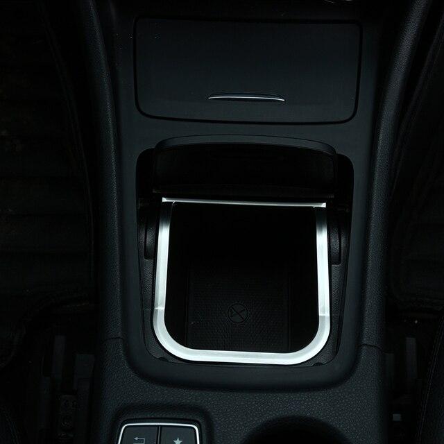 chrome centro scatola di immagazzinaggio sticker trim per mercedes