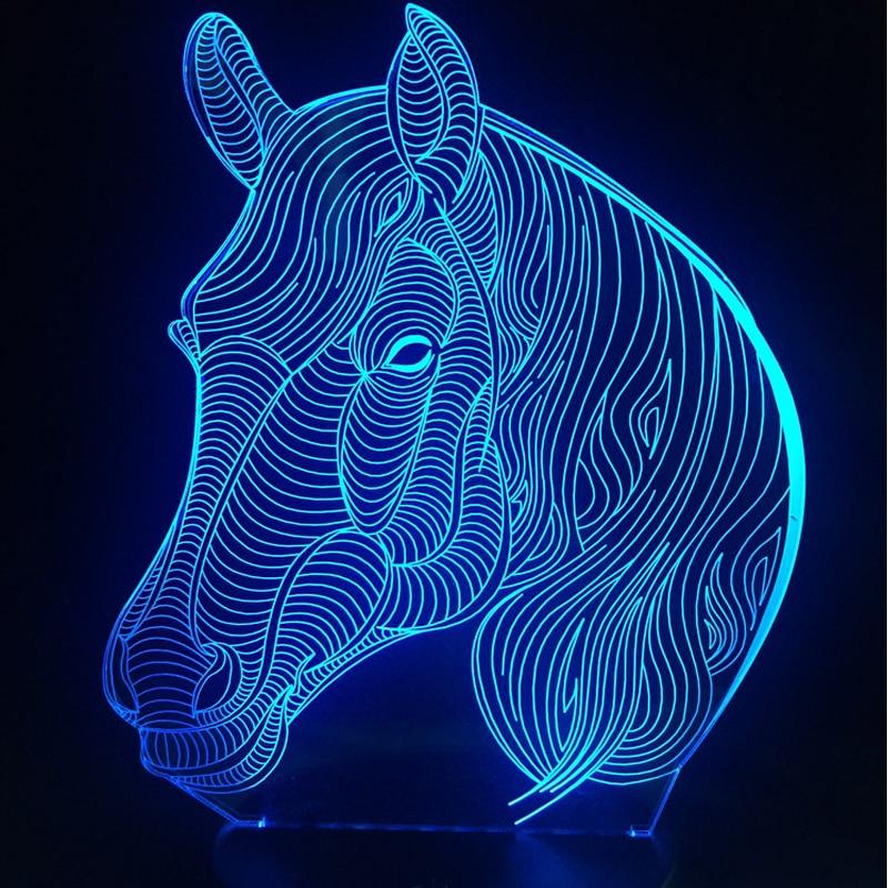 Luzes da Noite black friday multicolor mudando animais Fonte de Luz : Lâmpadas Led