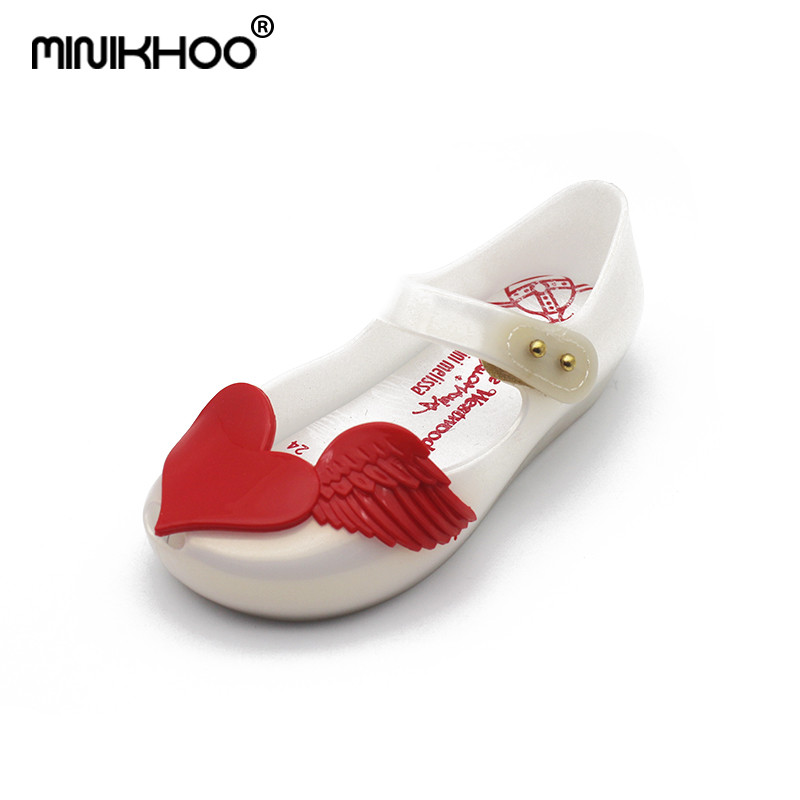 Mini Melissa Love Wings Shoes For Girls Jelly Sandals 2018 NEW Sandals Jelly Shoes Girls Beach Shoes Melissa Princess Shoes ...