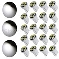 20pcs/lot Car Auto LED T10 194 W5W 4 led smd 3528 Wedge LED Light Bulb Lamp 4 SMD DC 12V