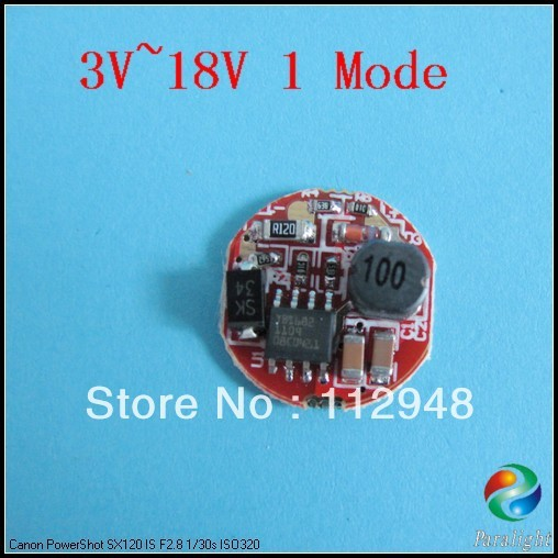 5 pieces/lot Single Mode 16mm Circuit Board/Driver Without Memory Function For Q5 T6 U3 U2 L2 Led Flashlight+Free Shipping