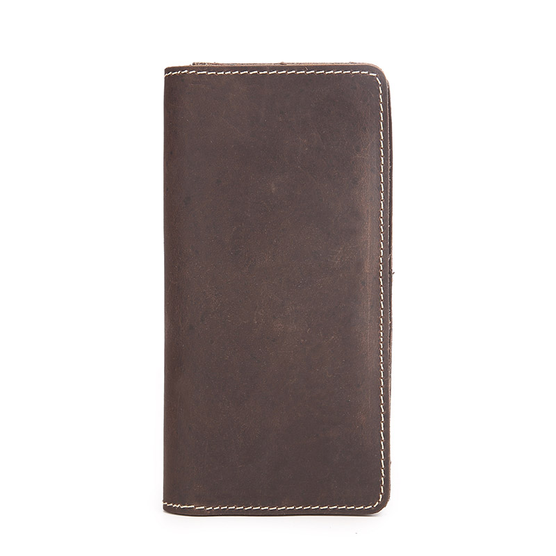 2017 new leather first layer Leather Vintage large capacity long wallet card genuine men large capacity card id holders genuine leather package cluch bag new men s leather wallet fashion leisure leather wallet