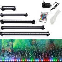 Бесплатная доставка, 12-46 см, 5050 RGB, светодиодная лампа для аквариума, погружной светильник для аквариума, лампа для кислородного пузыря, ЕС, С...