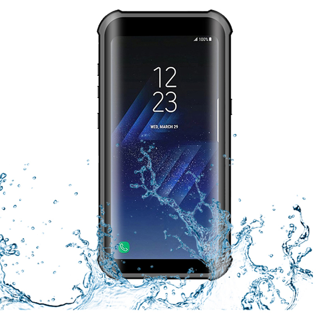 the best attitude 8c484 bd245 US $13.49 40% OFF|IP68 Real Waterproof Case For Samsung S8 S8 Plus Diving  Coque Magnetic Stands Luxury Phone Cover For Samsung Galaxy S8 Plus Case-in  ...