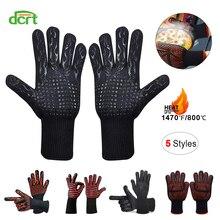 5 стилей 800-500 Цельсия экстремальные термостойкие перчатки для барбекю Приготовление выпечки гриля духовки рукавицы кухонная защита Инструменты для выпечки