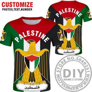 Image 2 - Palestyna t shirt diy za darmo na zamówienie nazwa numer palaestina koszulka PLE flaga narodowa tate carrinina college drukuj logo odzież