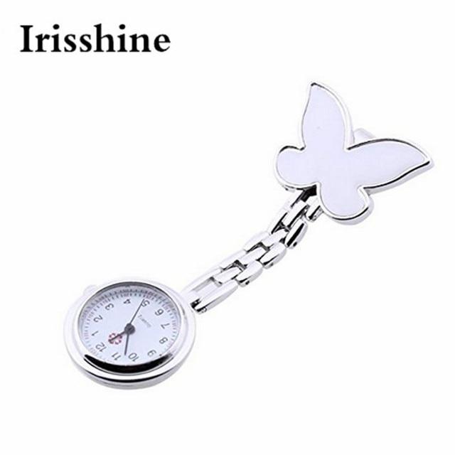Irisshine Lady girl watches Clock luxury gift Fashion Butterfly Nurse Clip-on Fo