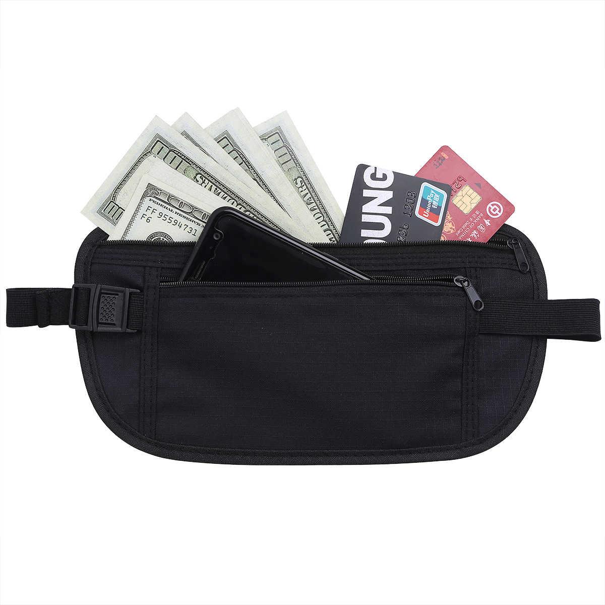 Bolso de viaje de cintura para hombre y mujer con bolsillo interior con cremallera para que el dinero esté seguro oculto bolsa de deporte riñonera al aire libre bolsas de deporte