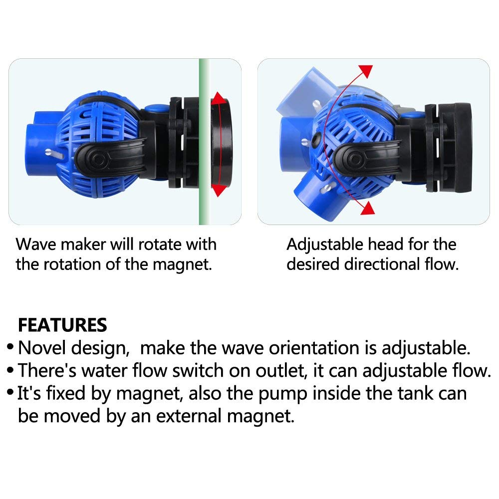 Pet Supplies Forceful The Rotor And Ceramic Shaft For Jebao Wp 10 25 40 60 Wavemaker Powerhead Pump Complete In Specifications
