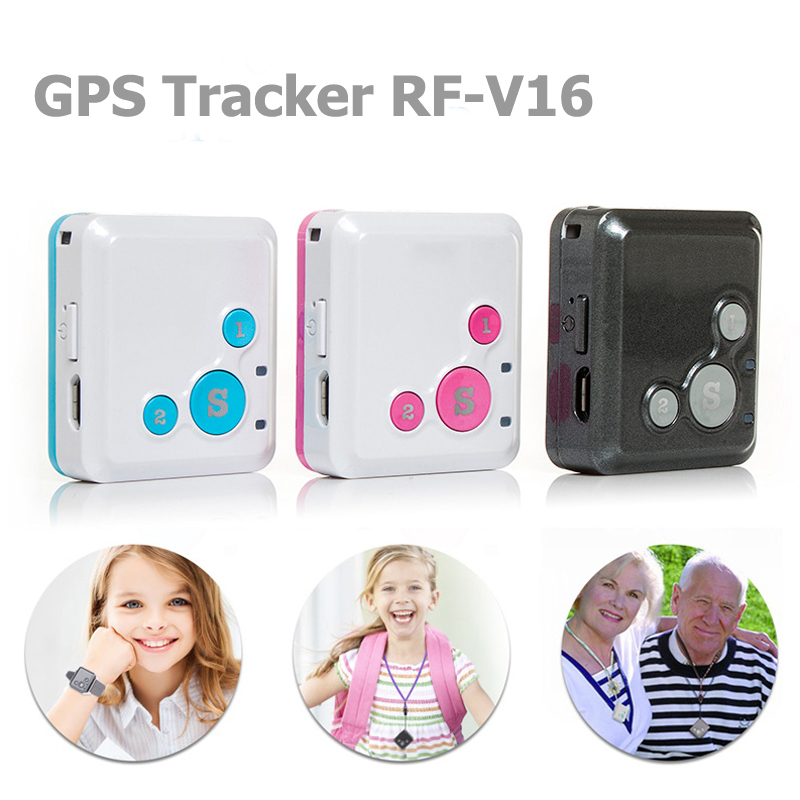 Mini Personal Kids Child GSM GPRS GPS Tracker RF-V16 SOS Communicator 7 Days Standby Voice Monitoring Lifetime Free Tracking mini gsm gprs gps personal position tracker for car child elder pet white