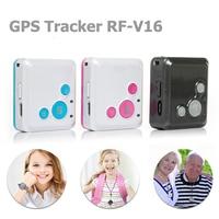 Mini Persoonlijke Kids Kind GSM GPRS GPS Tracker RF-V16 SOS Communicator 7 Dagen Standby Voice Monitoring Levenslange Gratis Tracking