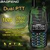 2020 Baofeng UV X9 플러스 10W 고출력 워키 토키 10 W/4 W/1 W 강력한 듀얼 PTT VHF/UHF 듀얼 밴드 10km 범위 휴대용 라디오