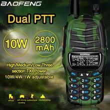 2020 Baofeng UV X9 Plus 10W haute puissance talkie walkie 10 W/4 W/1 W puissant double PTT VHF/UHF double bande 10km portée Radio Portable