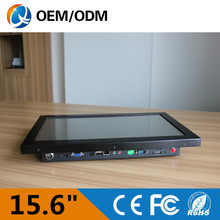 15.6 inch industrial computer (all in one panel pc) gaming pc computer touch screen Resolution 1366×768 with Intel D525 1.8GHz