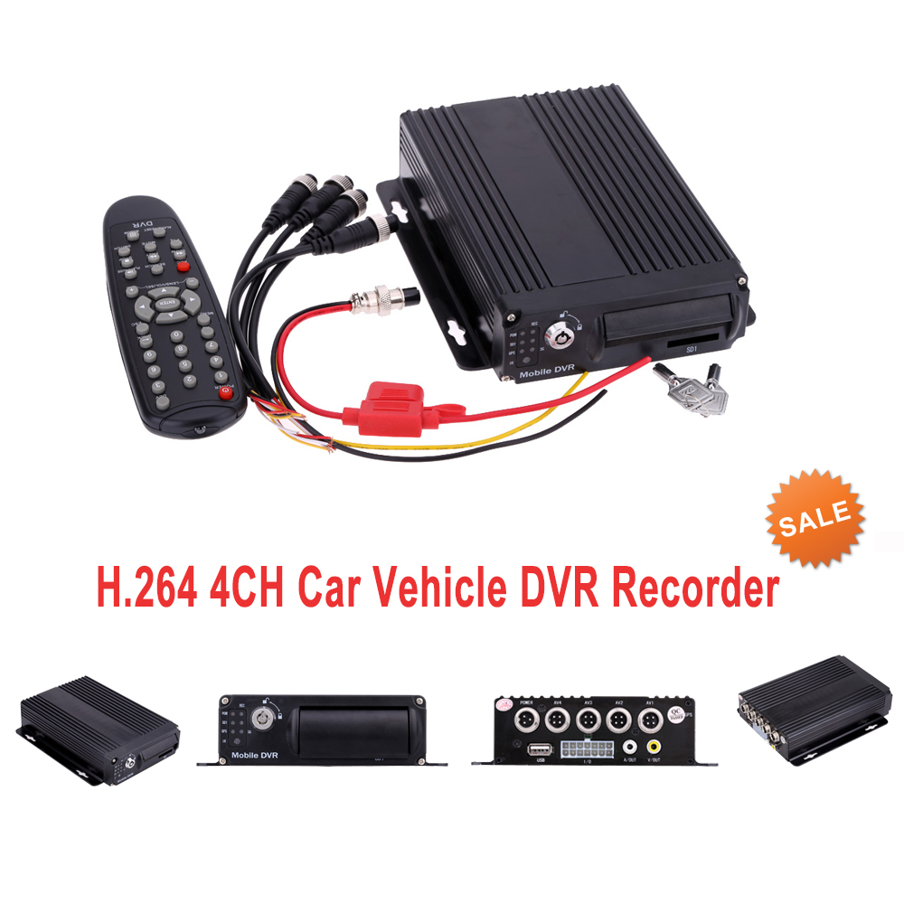 Mini CCTV 4CH Realtime SD Card Mobile Bus Car Vehicle DVR Recorder System 4 channel 256g sd car vehicle dvr mdvr video recorder kit cctv rear view camera dome camera for truck van bus free shipping