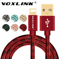 Original USB Charger Cable VOXLINK Fast Charging Data usb cable for iphone 7 7 Plus 6 6s plus 5 5s ipad mini Mobile Phone Cables