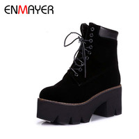 Arrival Autumn Boots Winter Ladies Ankle Boots Women Fashion Boots Lace Up Warm Fur Hot