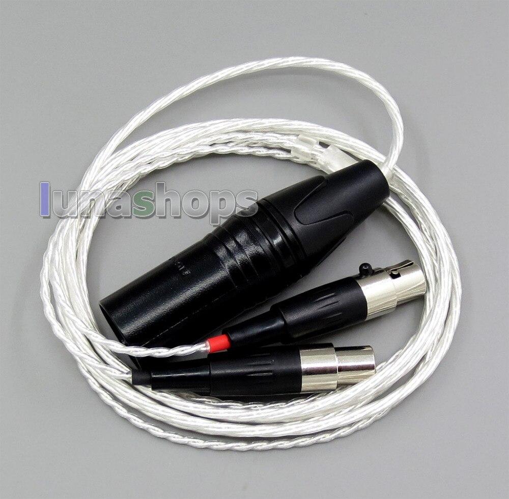 1.5 m 4pin XLR Gebalanceerde 4*100 Cores OCC Pure Verzilverde Hoofdtelefoon Kabel Voor Audeze LCD 3 LCD3 LCD 2 LCD2 LN006163-in Oortelefoonaccessoires van Consumentenelektronica op  Groep 1