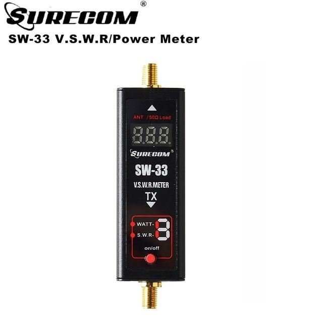 Surecom SW 33 العالمي الرقمي الصغير VHF/UHF الطاقة و SWR متر 125 525MHz SW 33 ل Baofeng اسلكية تخاطب FM اتجاهين الراديو