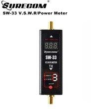 Surecom mini digital SW 33 universal, potência uhf e medidor swr 125 525mhz sw 33 para baofeng walkie talkie fm rádio de duas vias