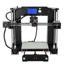 Anet A6 Impresora de Alta Precisión 3D 220*220*250mm de Acrílico Completo Reprap Prusa i3 DIY 3D Kit de Impresora Con Filamento de 16 GB Tarjeta SD LCD