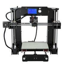 Anet A6 High Precision 3D Printer 220*220*250mm Full Acrylic Reprap Prusa i3 DIY 3D Printer Kit With Filament 16GB SD Card LCD