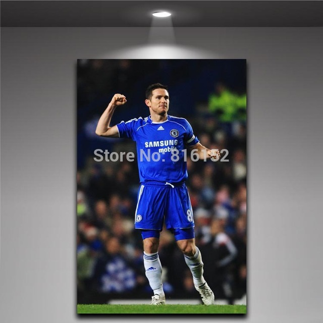 Free Shipping Frank Lampard Chelsea F.C. The Blues Canvas Painting Soccer  Player Football Picture Boy s Room Decor bcc703dac
