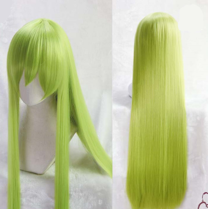 Fate/Grand Order Enkidu Cosplay Green Wig Mens Enkidu Long Straight Green Hair Wig Costumes