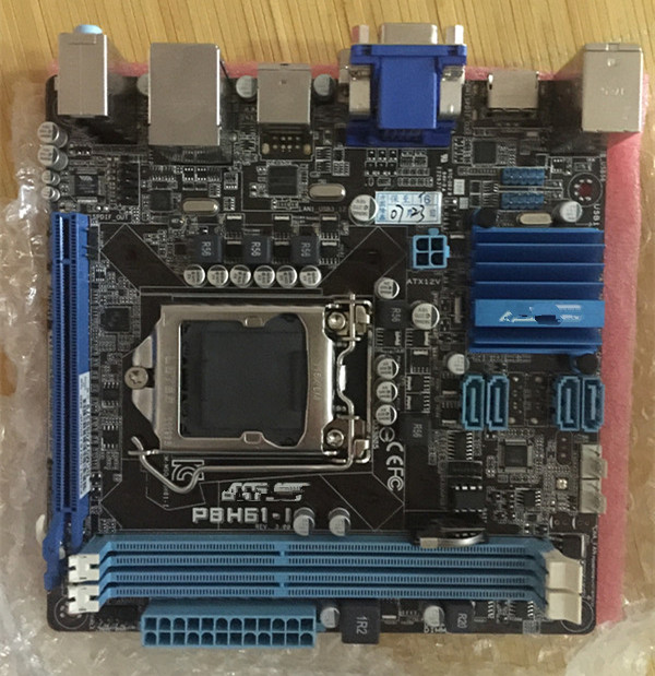 ФОТО Used original for ASUS P8H61-I DDR3 LGA 1155 boards For I3 I5 I7 CPU 16GB H61 Desktop motherboard Free shipping